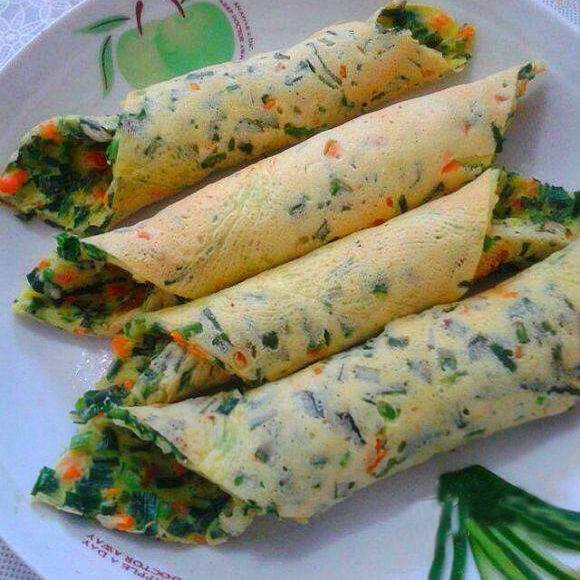 韭菜鸡蛋菜卷