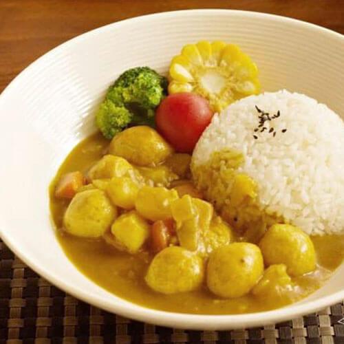 咖喱土豆鱼蛋饭
