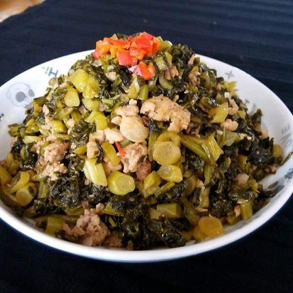 鲜贝炒酸菜