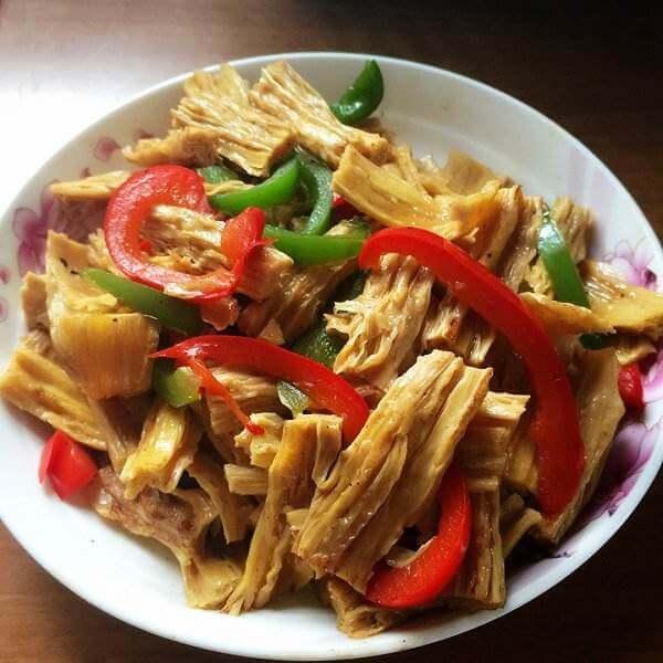 尖椒泡菜炒腐竹