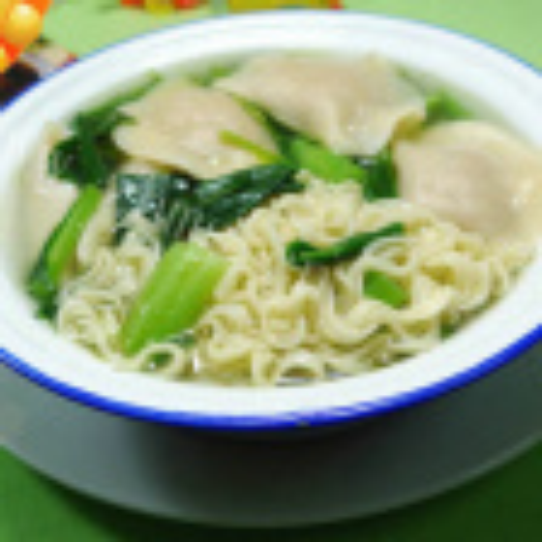 油菜蕻饺子波纹面
