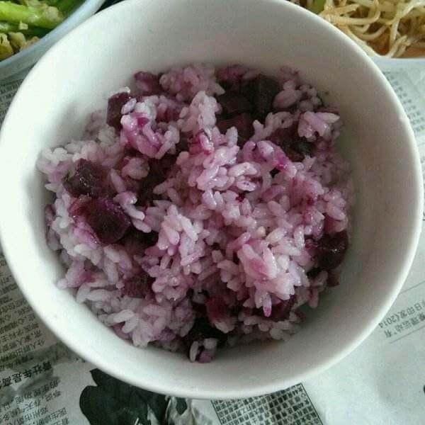 紫薯干米饭