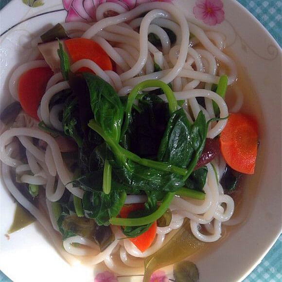 香菇豆苗米线