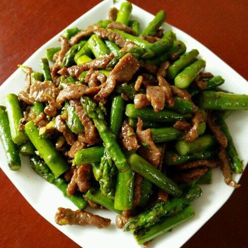 芦笋黑椒羊肉