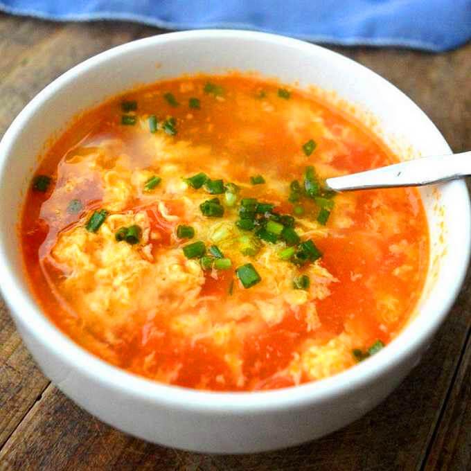 番茄蛋皮汤