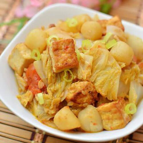 大白菜炖鲜贝