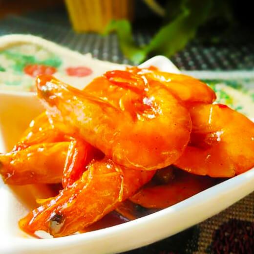 自制茄汁东方虾