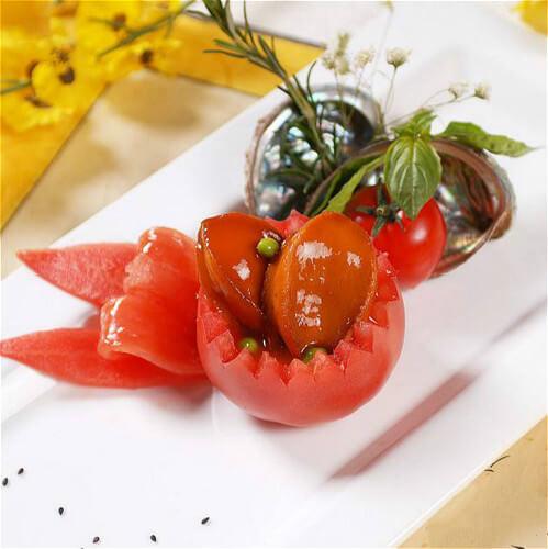 鸡尾酒茄汁鲍鱼