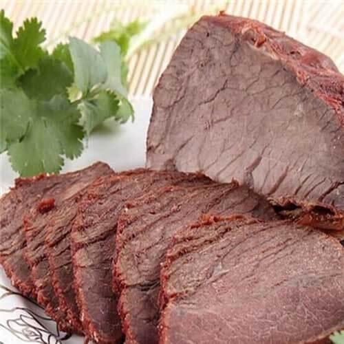 香喷的黄豆卤牛肉