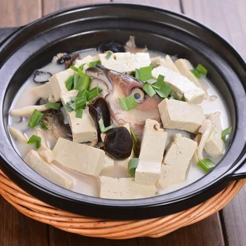 香辣鱼头豆腐钵