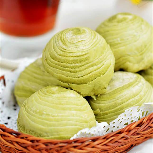 抹茶绿豆酥球