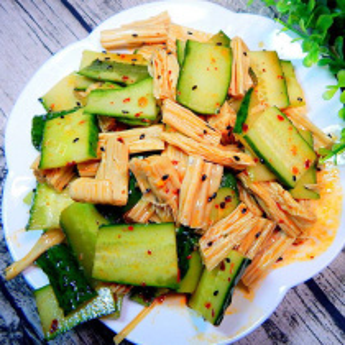 腐竹拌青瓜