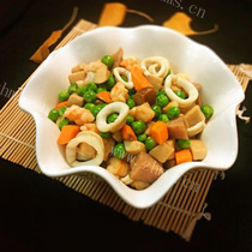 豌豆烩海鲜