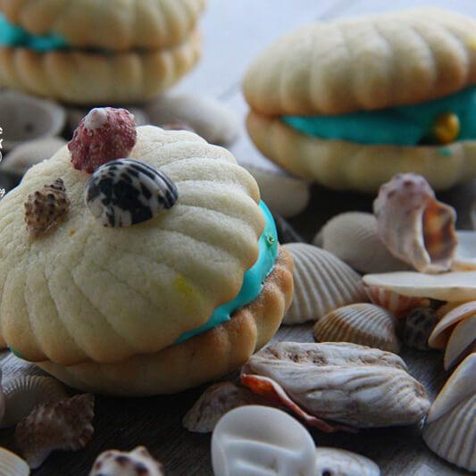 酥脆的贝壳饼干