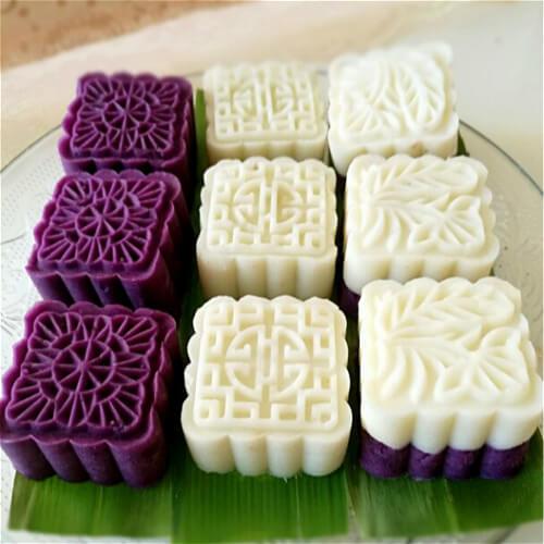 紫薯山药枣泥糕