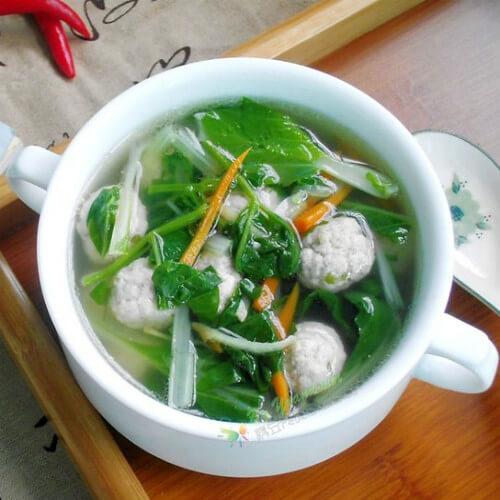 土豆丝小白菜汤