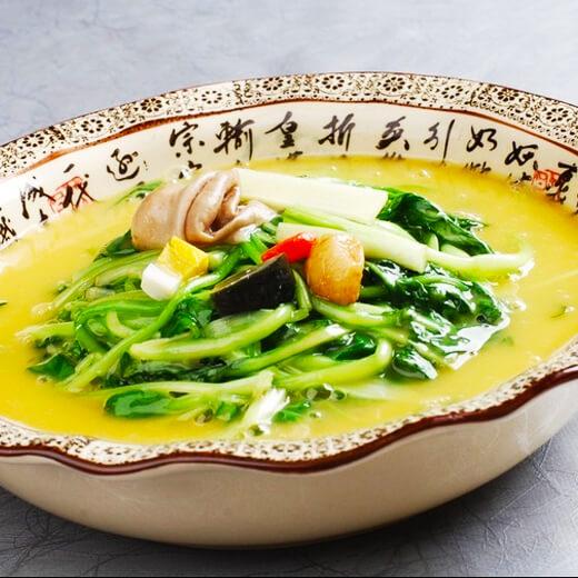 美味鸡毛菜疙瘩汤