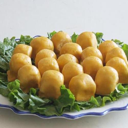 黄米面粘豆包