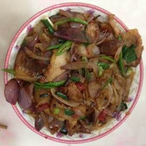 清炒洋葱青椒炒肉片