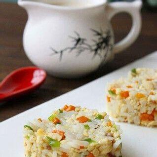 健康豆渣培根炒饭