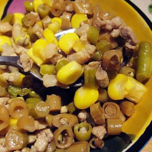 美味玉米炒酸豆角