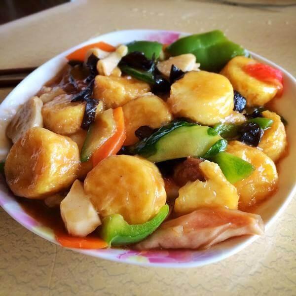 辣椒焖日本豆腐