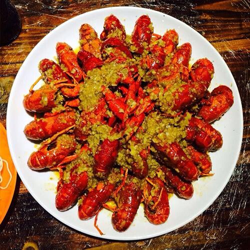 蒜蓉油焖大虾