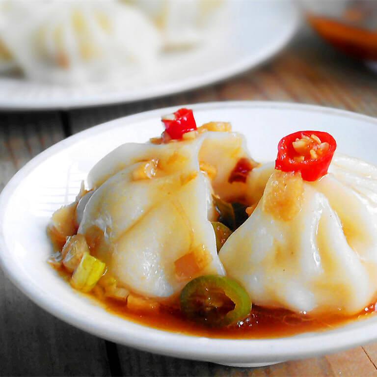玉米猪肉香菇饺子