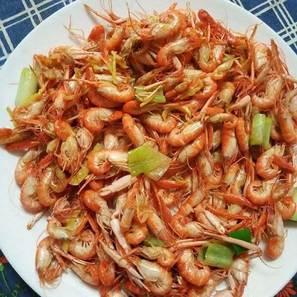 家常秋葵炒海虾