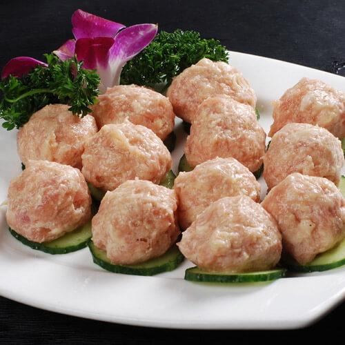 美味的洋葱猪肉丸子