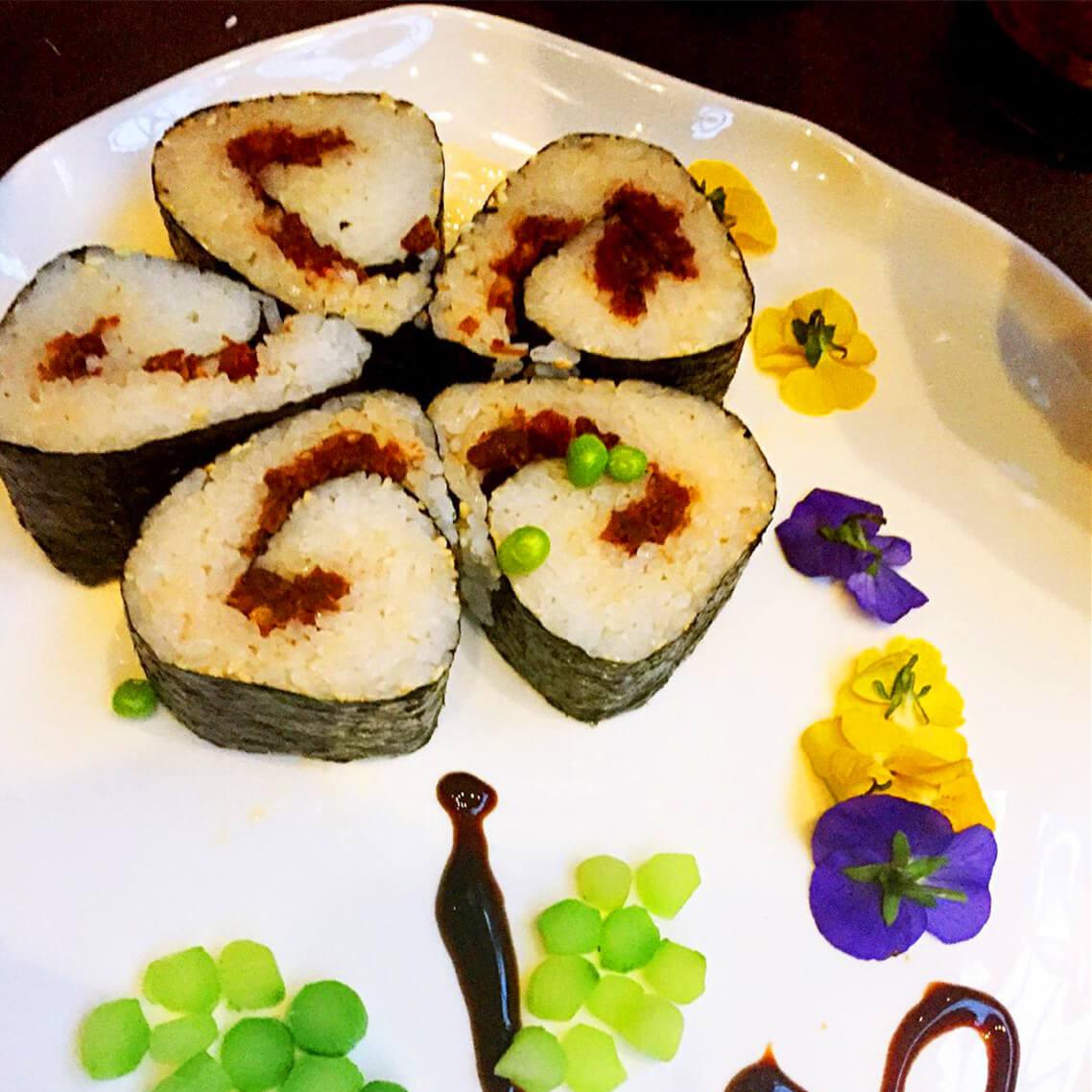 可口的梅花寿司