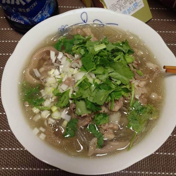 白菜羊肉粉丝汤