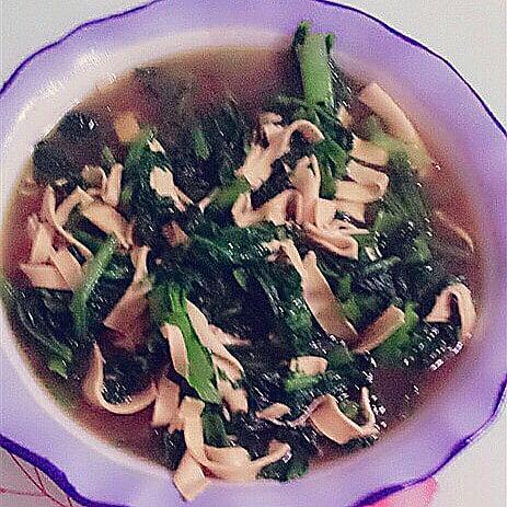豆腐皮炒小白菜