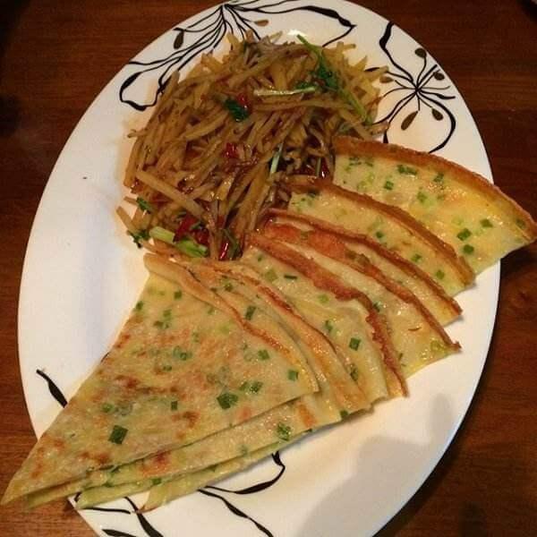 秋葵土豆丝饼