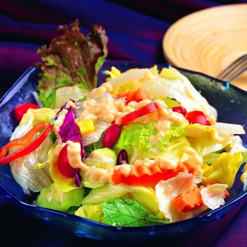 美味杂菜虾沙律