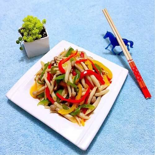 彩椒茶树菇