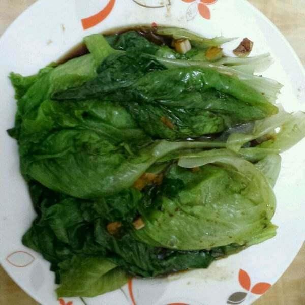 酸蒜白灼生菜