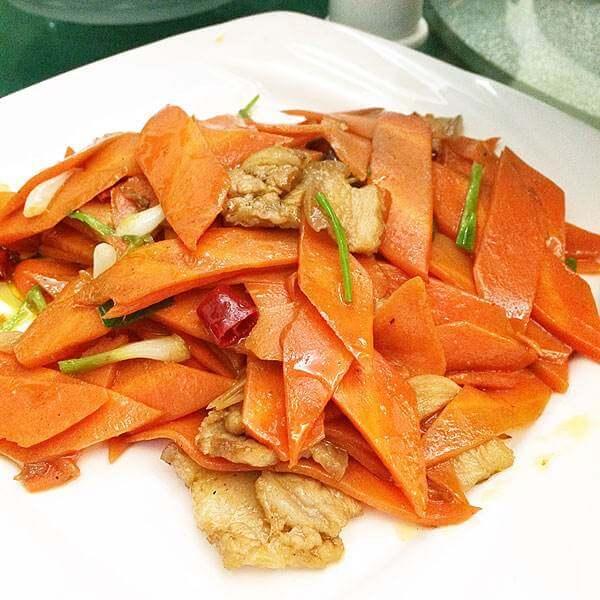 好吃的豆瓣炒萝卜