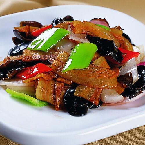 藕片炒五花肉
