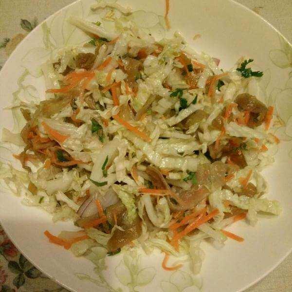 白菜芯拌海蜇
