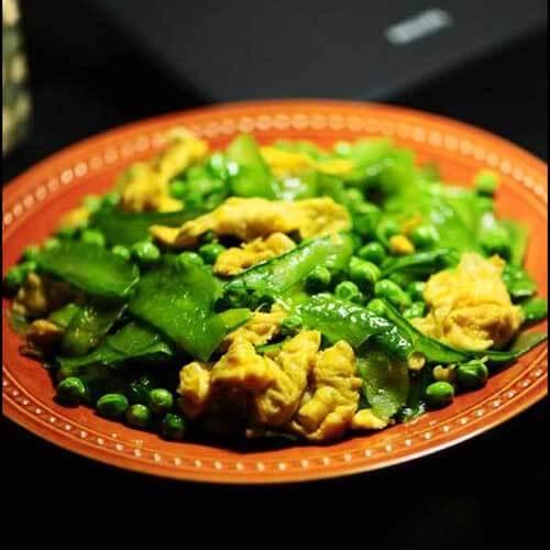 豌豆炒韭菜鸡蛋