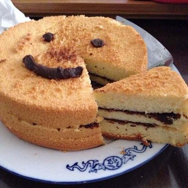 自制十寸榴莲戚风蛋糕