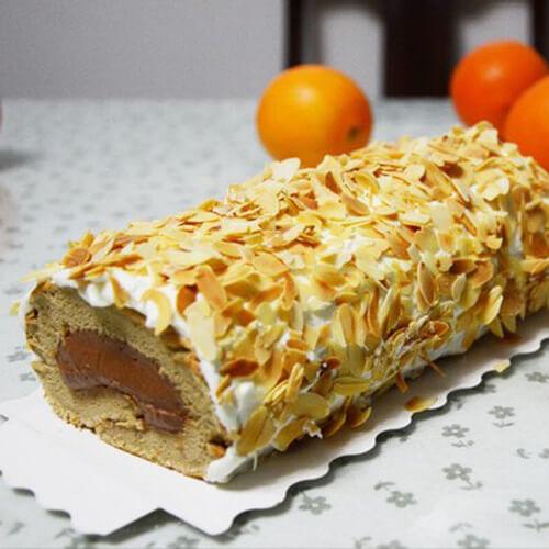 咖啡杏仁蛋糕体