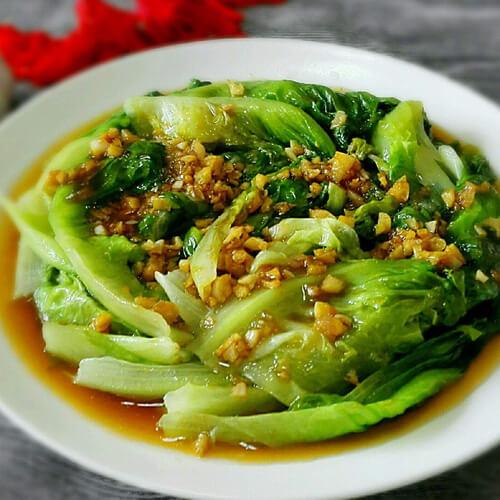 蚝油虾皮生菜