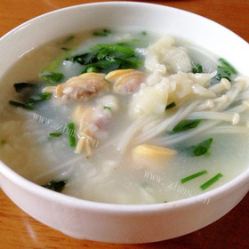 鸡毛菜疙瘩汤