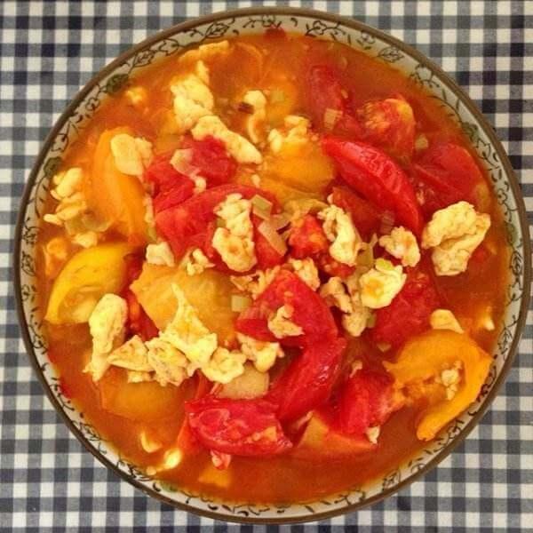 芝麻葱花虾皮鸡蛋番茄