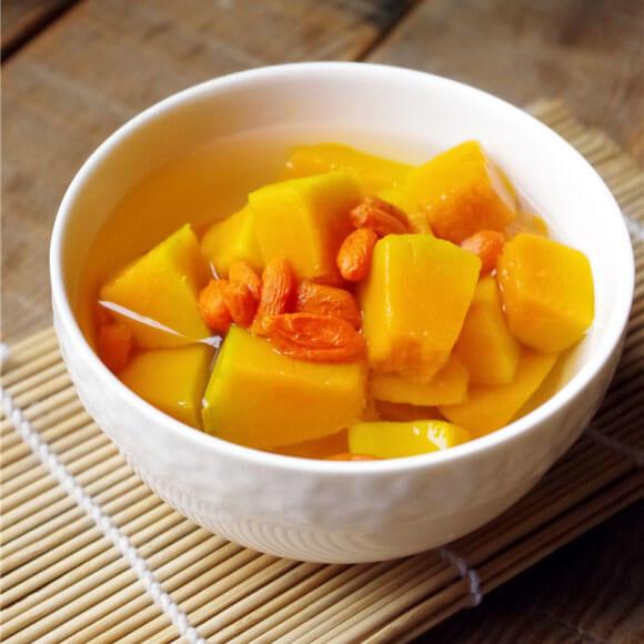 南瓜枸杞甜汤