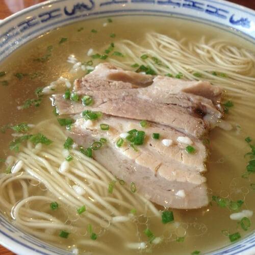 君叠菜面结汤