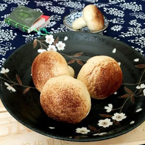 香菇豆沙馒头
