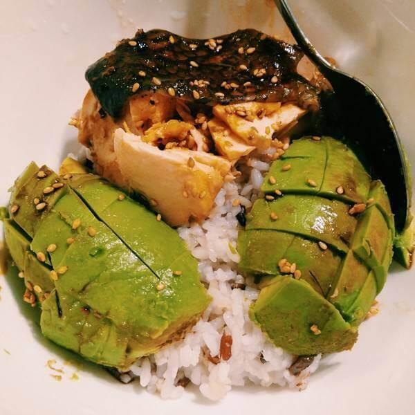 牛油果三文鱼饭